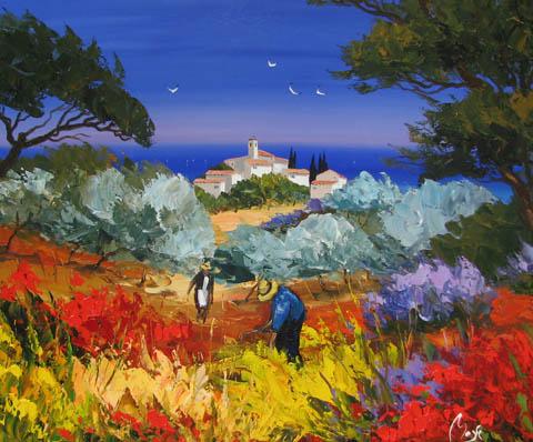 Flower Harvest by  Louis  Magre - Masterpiece Online