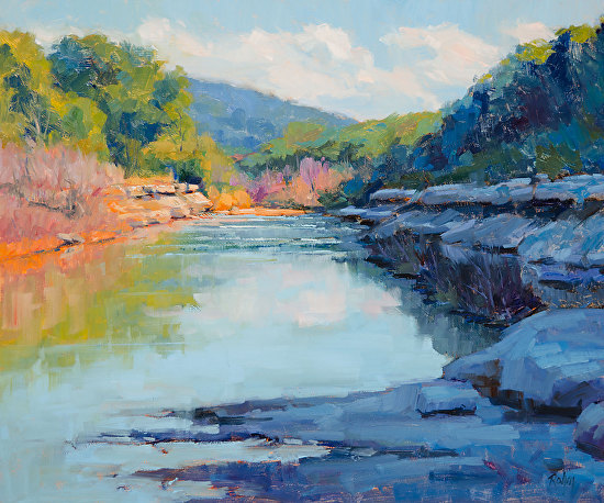 Cow Creek Afternoon by Mr Bob Rohm - Masterpiece Online
