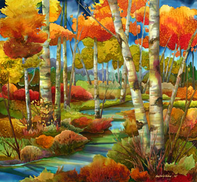 Mountain Stream by MS Nancy Dunlop Cawdrey - Masterpiece Online