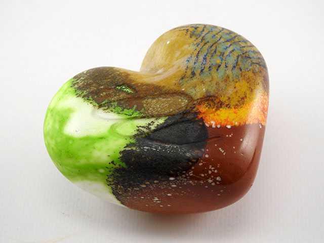 Paperweight/Stone Hea... by  Michelle Kaptur - Masterpiece Online
