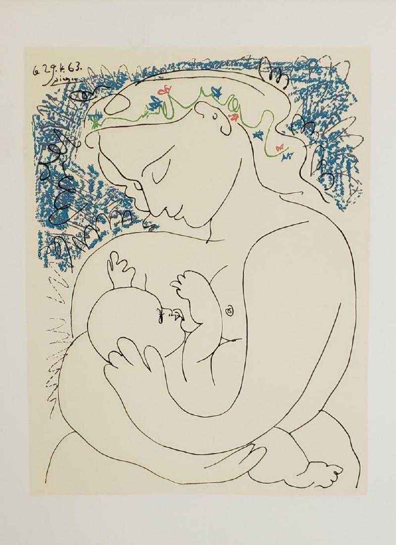 Maternite' (Mother an... by  Pablo Picasso - Masterpiece Online