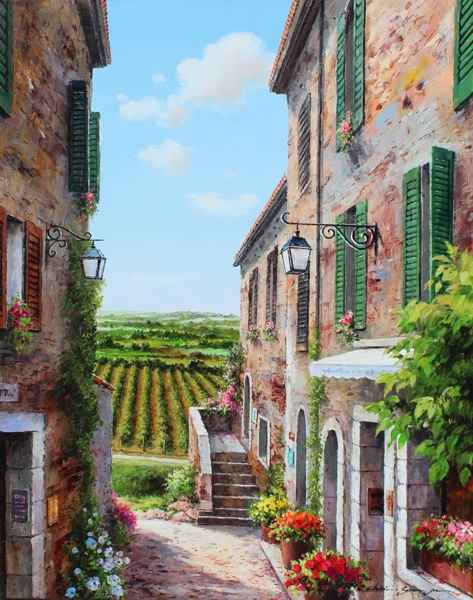 View of the Vineyard by  Soon Ju Choi  - Masterpiece Online