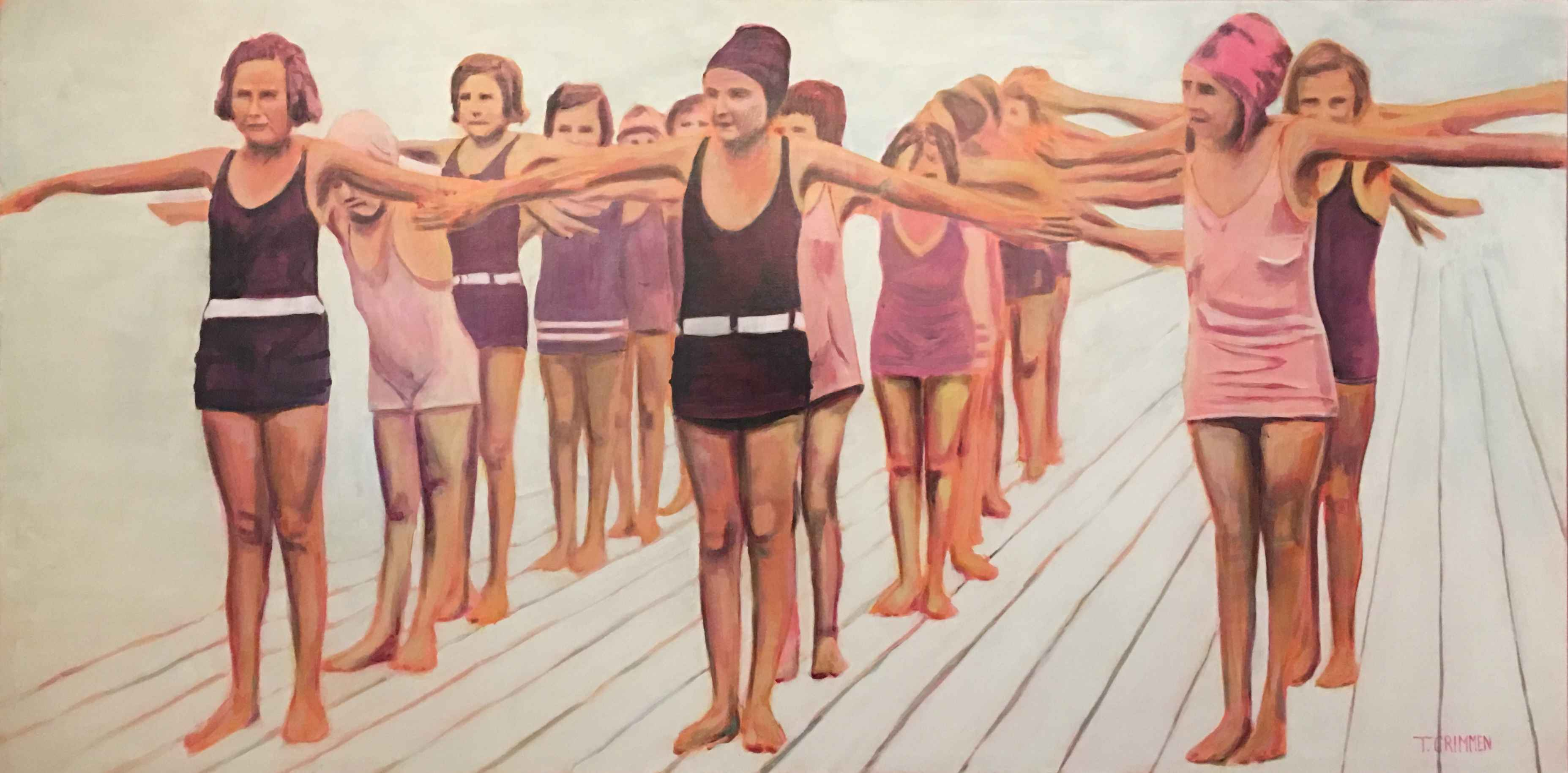 Swimming Lesson by  Terry Crimmen - Masterpiece Online
