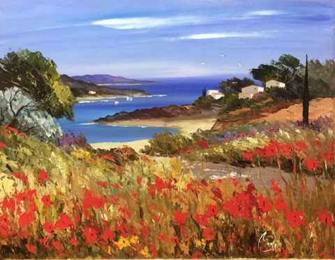 Sheltered Cove by  Louis  Magre - Masterpiece Online