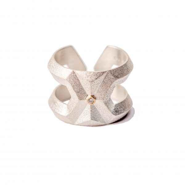 Hexagon Diamond Ring by Ms. Maria Samora - Masterpiece Online
