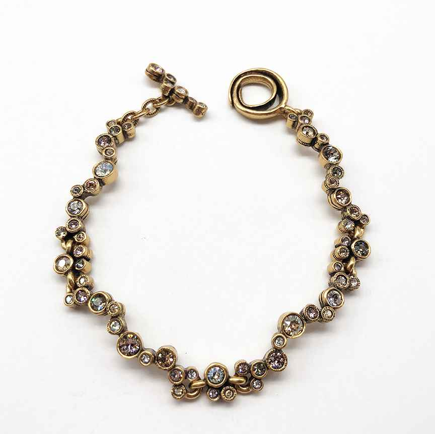 Cassiopeia Bracelet in Gold, Champagne 7 1/4