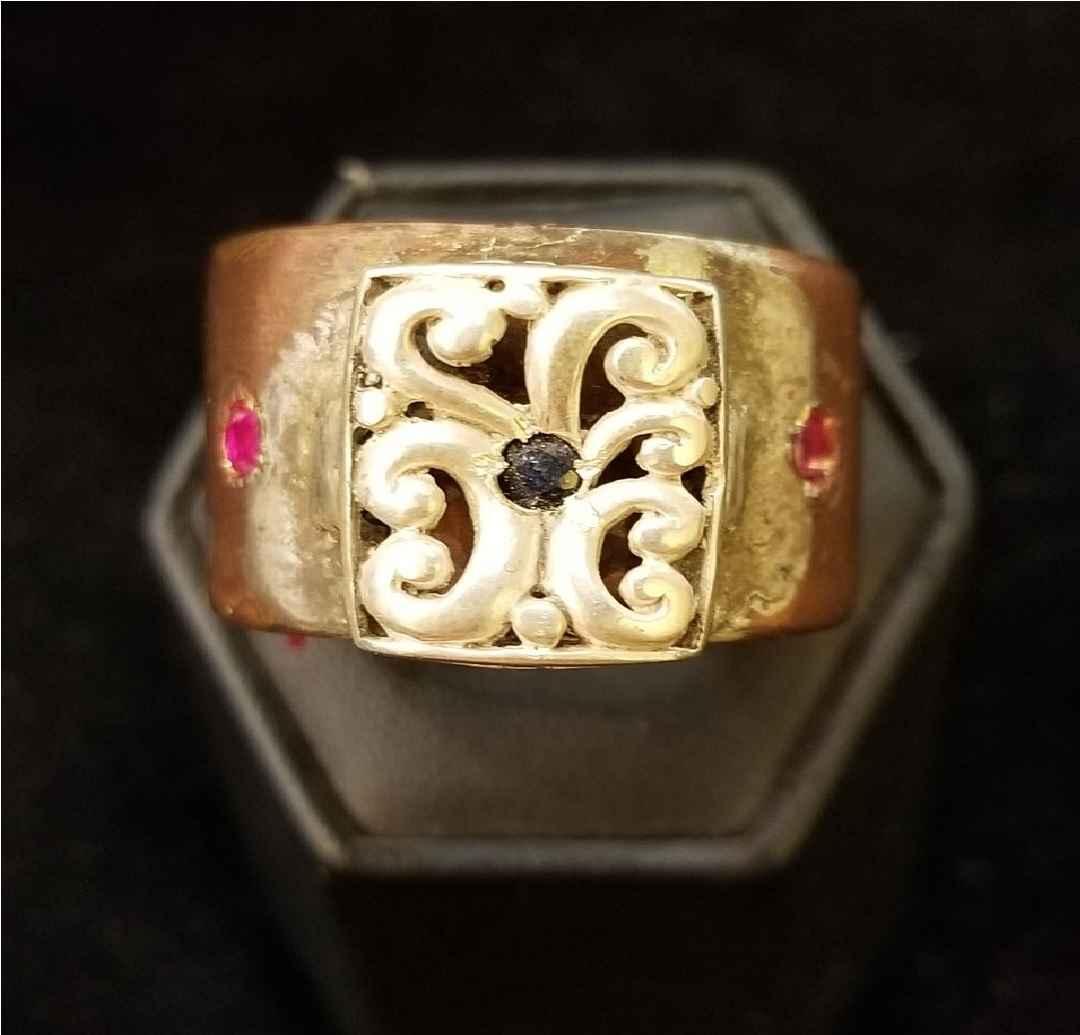 Ring - Copper w/Silve... by  Aziah Poimandres - Masterpiece Online
