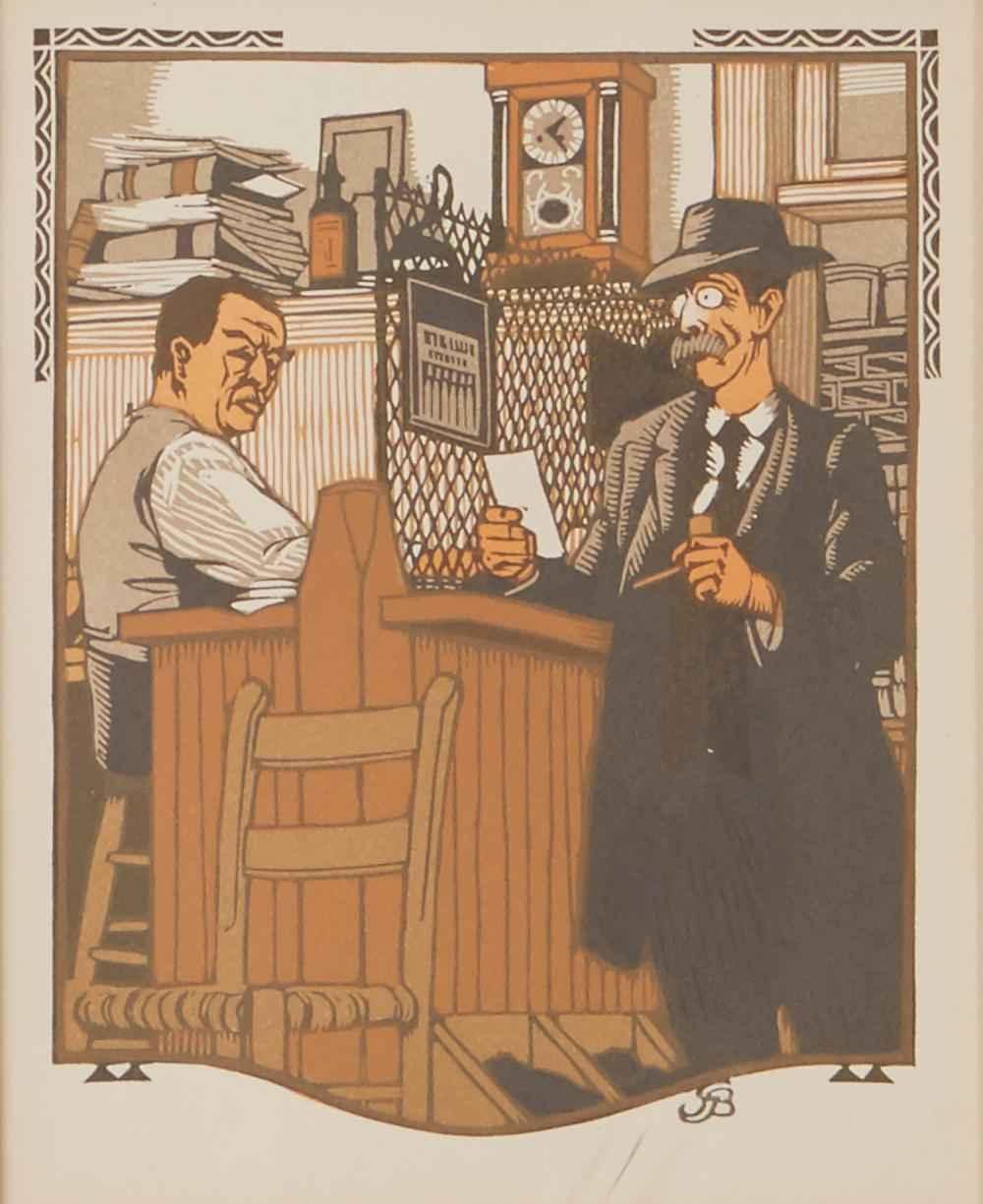 The Businessman by  Gustave Baumann - Masterpiece Online