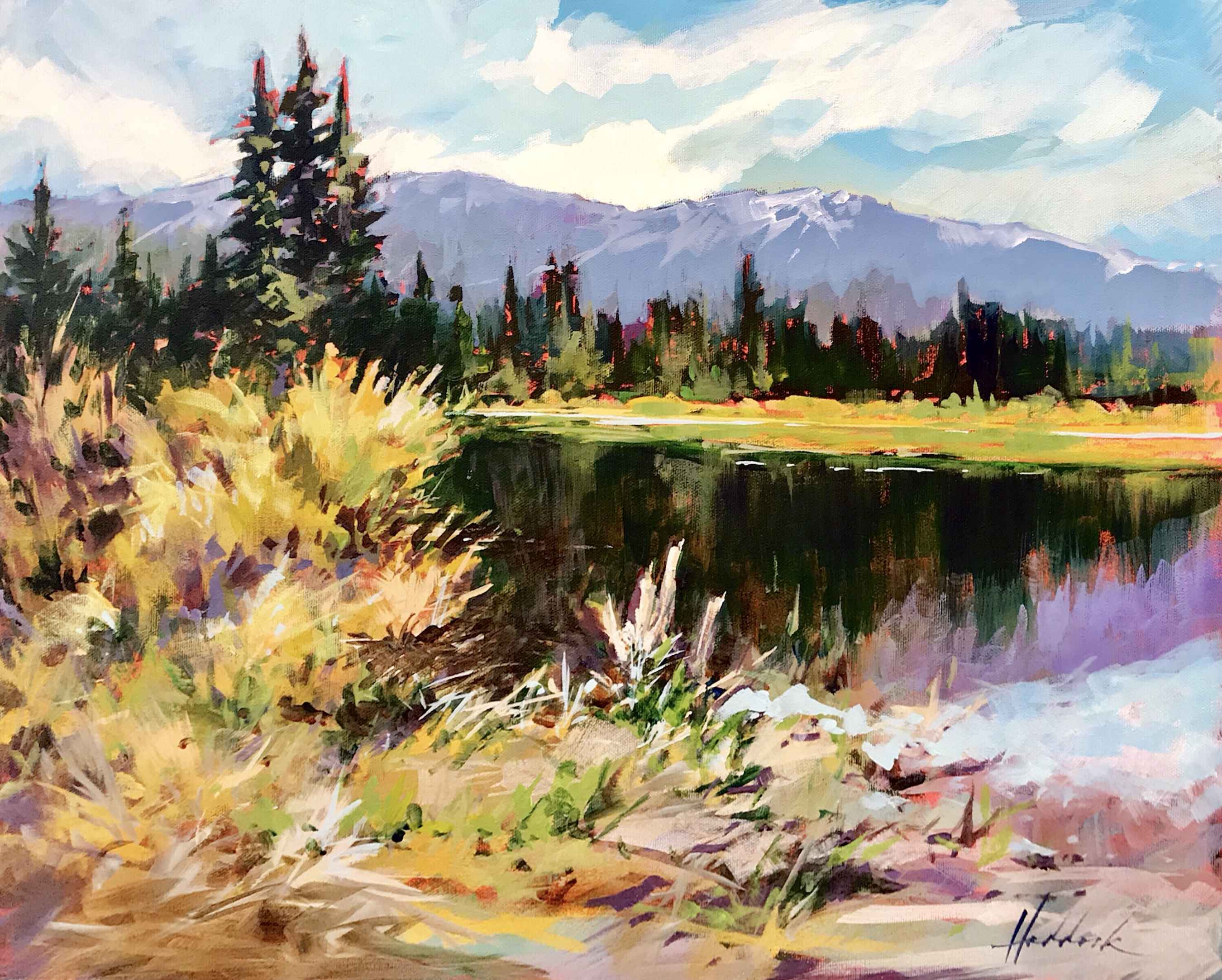 Similkameen Marsh by  Perry Haddock - Masterpiece Online