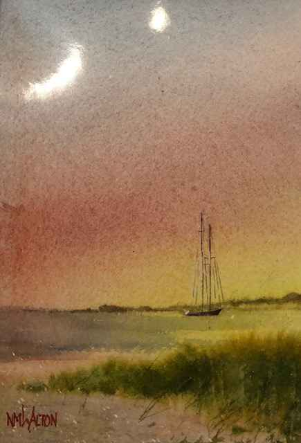 Sunrise at Anchor by  Nancy Motley Walton - Masterpiece Online
