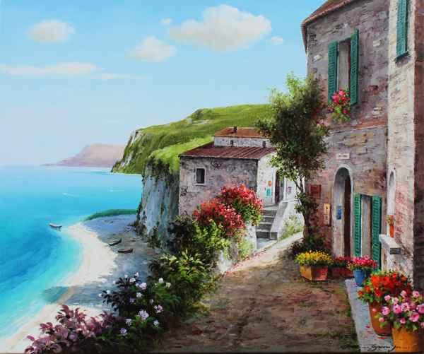 Green Cliffs by  Soon Ju Choi  - Masterpiece Online