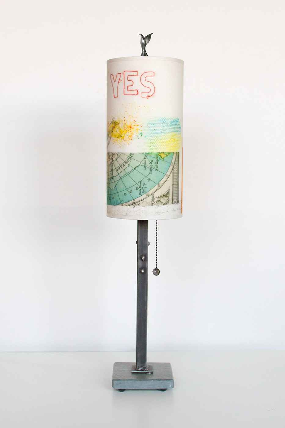 Steel Table Lamp with... by  Ugone & Co. - Masterpiece Online