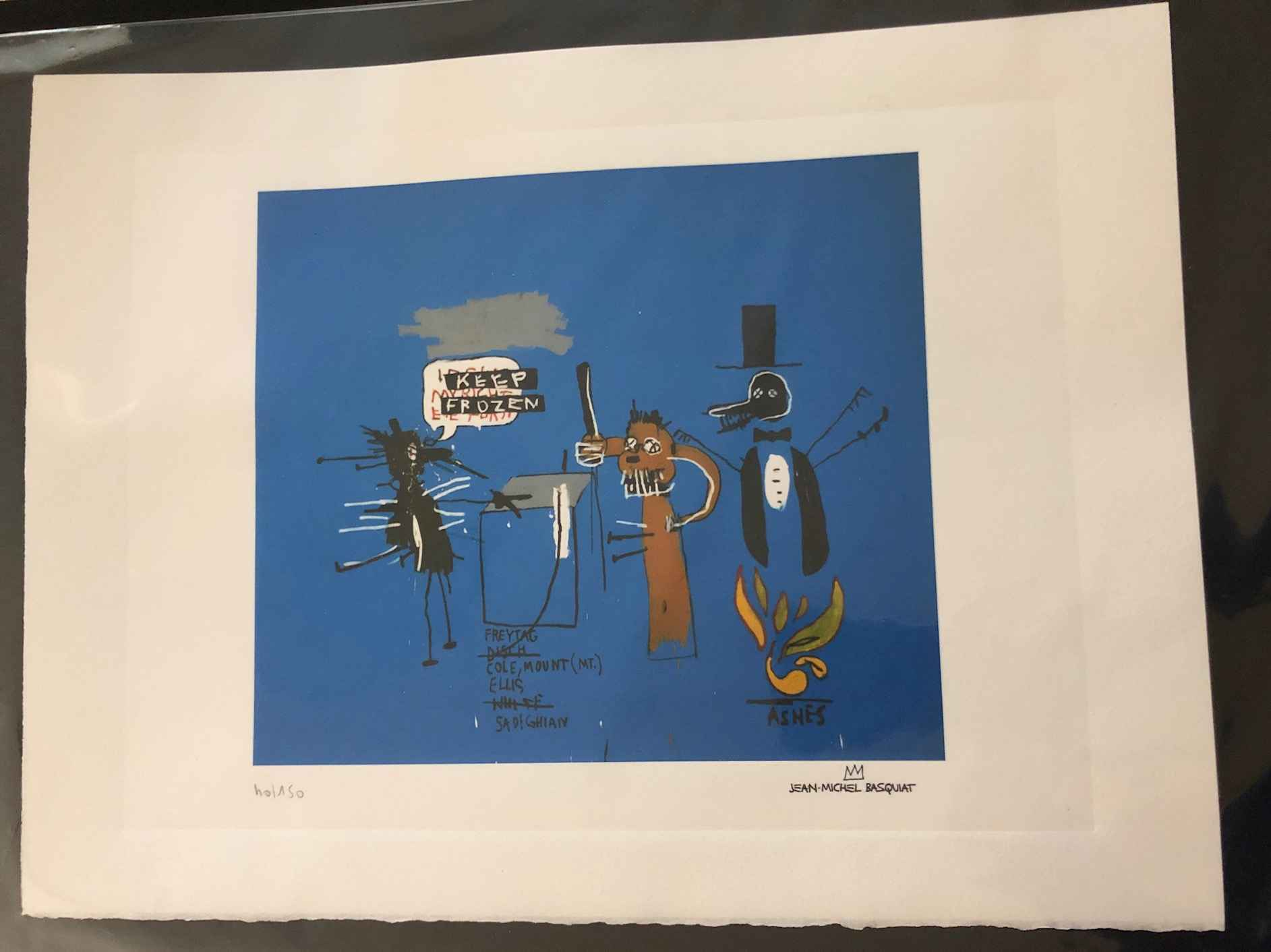 The Dingoes That Park... by  Jean-Michel Basquiat - Masterpiece Online
