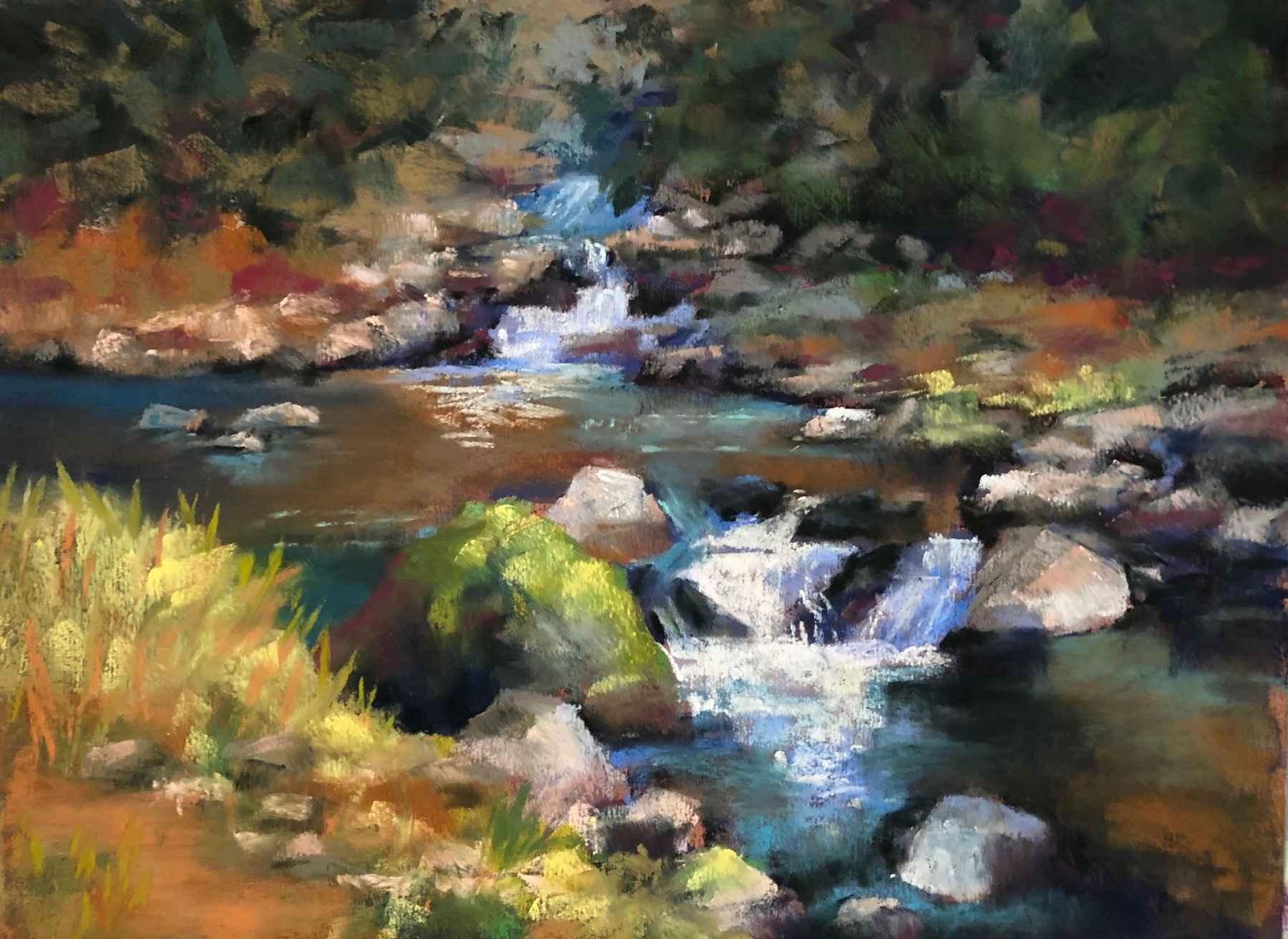 Below Falls by  Janis Graves - Masterpiece Online
