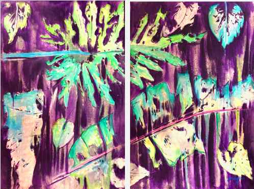 Purple Rain (diptych) by  Sebastien JEAN - Masterpiece Online