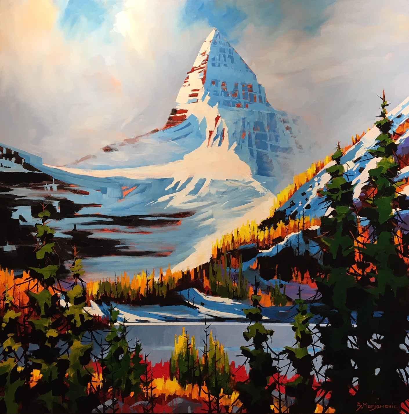 At Mt Assiniboine Hik... by  Branko Marjanovic - Masterpiece Online