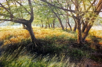 Leaning Trees, Dry Cr... by  Michael Wheeler - Masterpiece Online