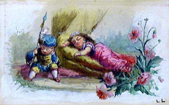 Let Sleeping Princes ... by  Luigi  Loir - Masterpiece Online