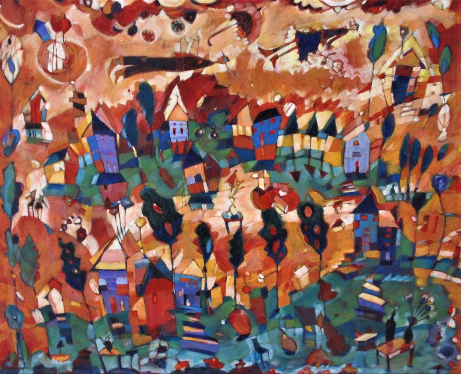 Untitled (urban scene) by  Diane Culhane - Masterpiece Online