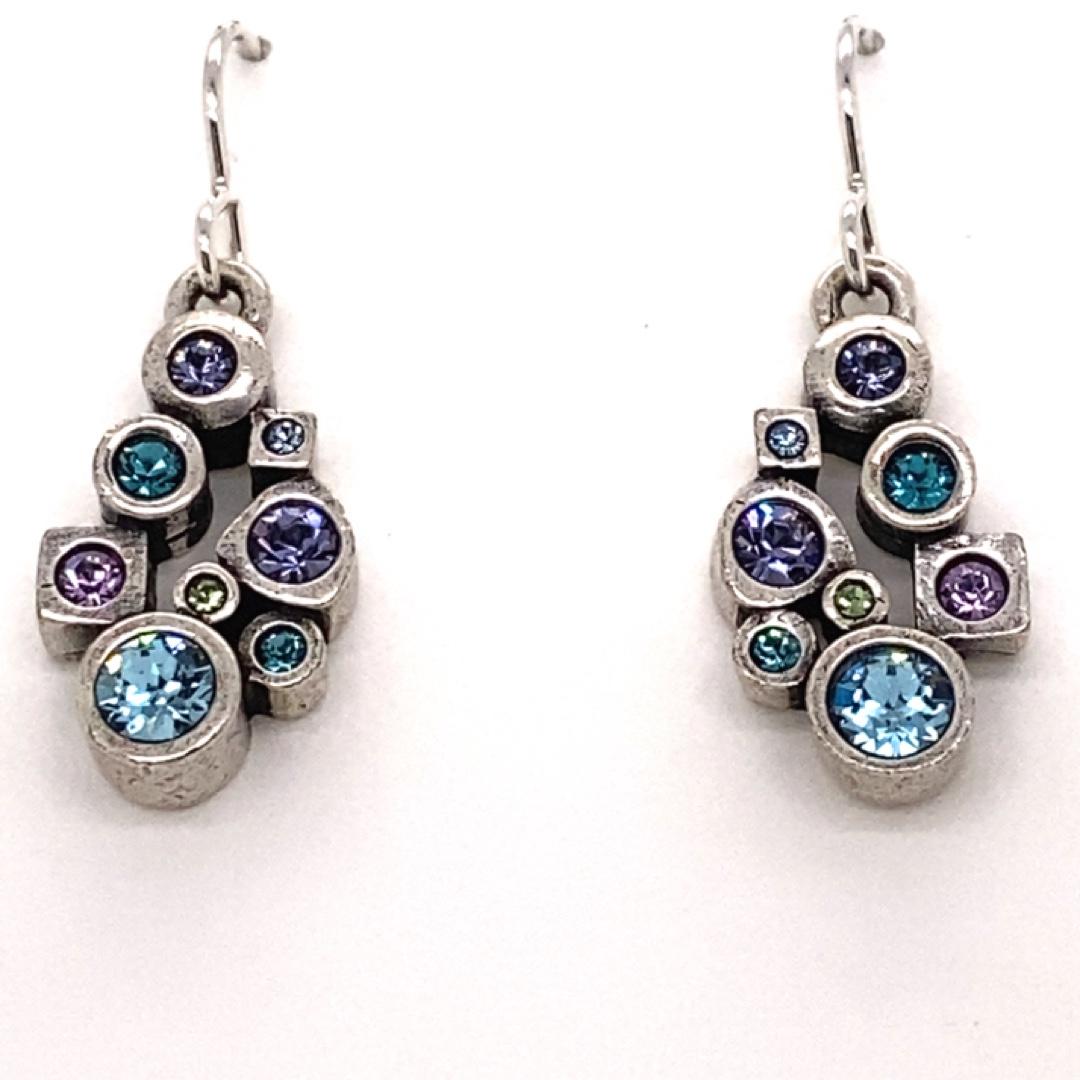 Nectar Earrings in Silver, Water Lily