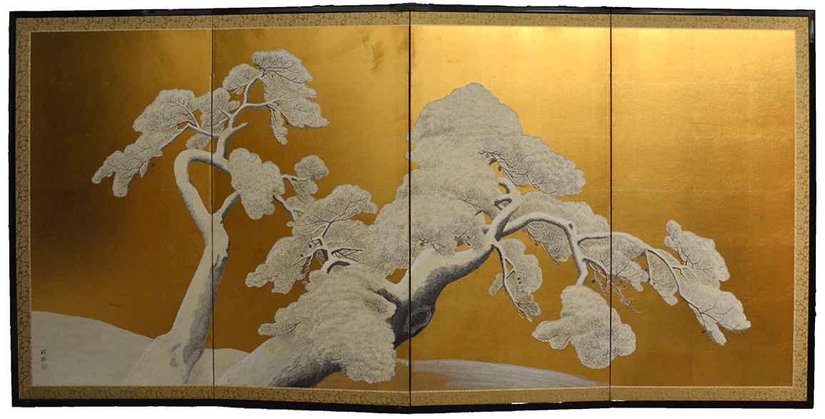 Snowy Pine Tree by  Oh-en Tanaka - Masterpiece Online
