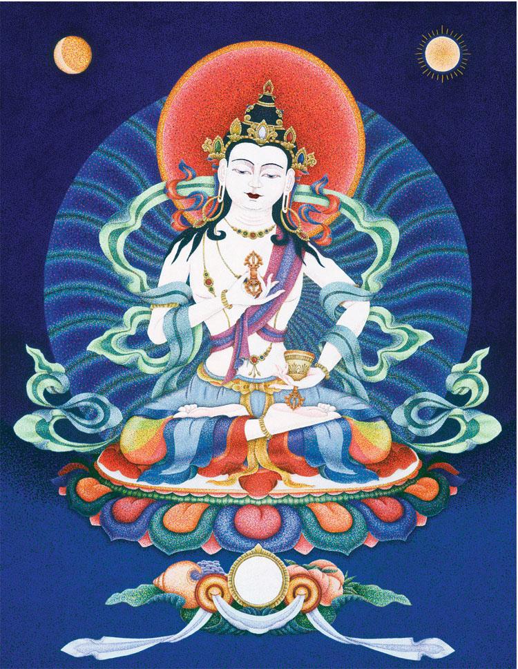 Vajrasattva by  Sherab (Shey) Khandro - Masterpiece Online