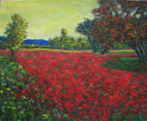 Meadow with Poppies by  Andres  Morillo - Masterpiece Online
