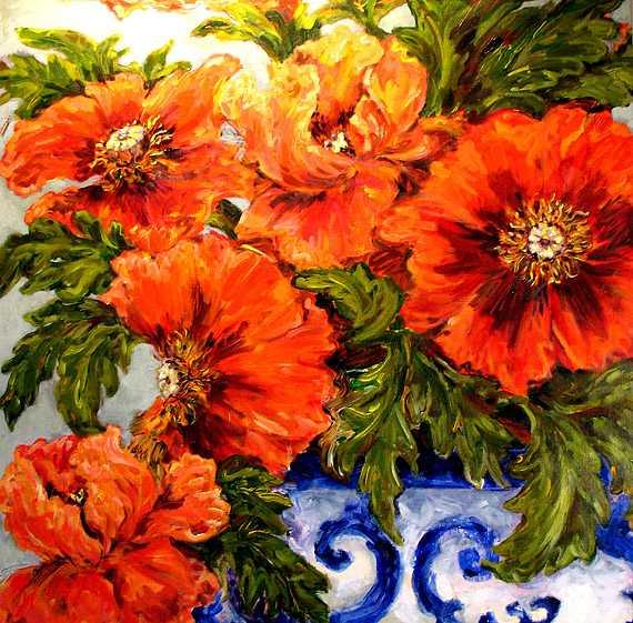 Poppies by  Kate Steiger - Masterpiece Online