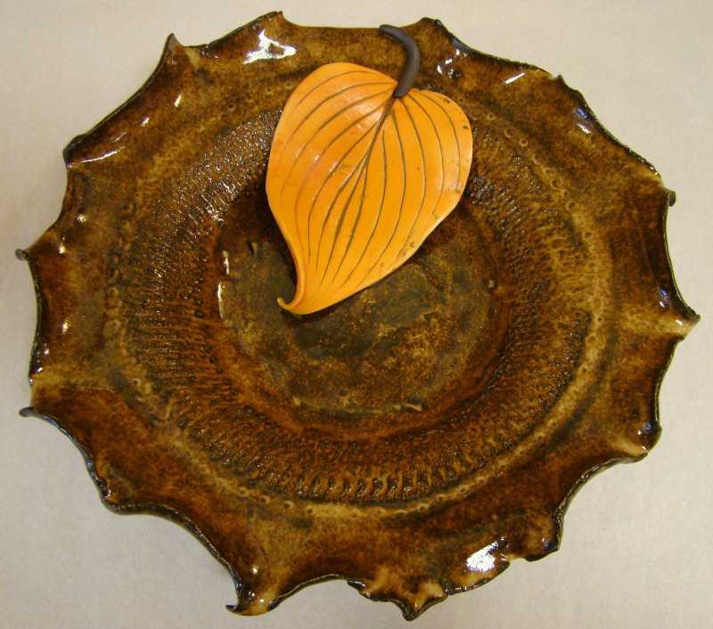 ND018 Hosta Leaf Bowl by  Nancy Duden - Masterpiece Online