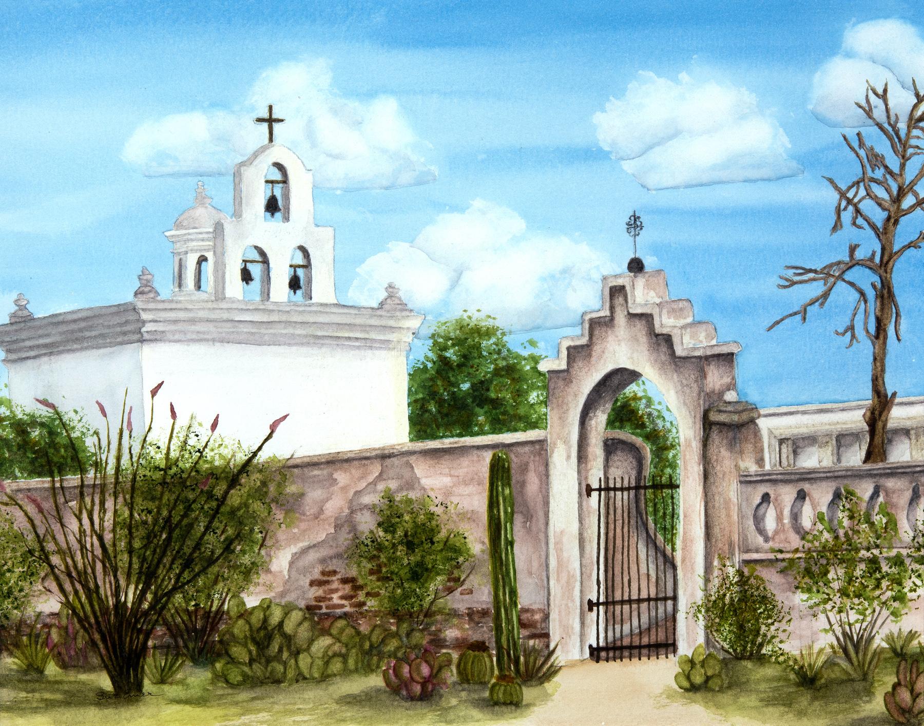 Mission San Xavier Ch... by  Sue Emer - Masterpiece Online