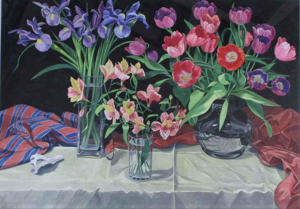 Still Life w/ Iris & ... by  Sherrie Wolf - Masterpiece Online