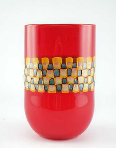 Murrini Vessel/Red by  Bill Burch - Masterpiece Online