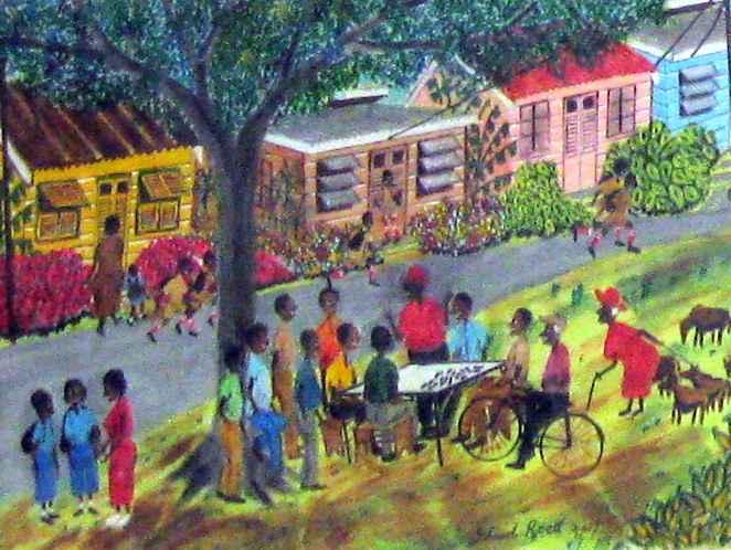 Bajan Village by  Ishmael Roett - Masterpiece Online