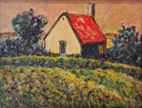 Houses at the Farm by  Andres  Morillo - Masterpiece Online
