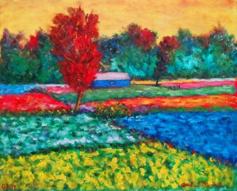 Farm Fields with Colo... by  Andres  Morillo - Masterpiece Online