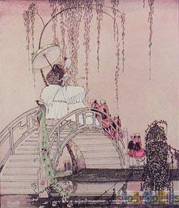 Woman On Bridge  by  Kay Nielsen