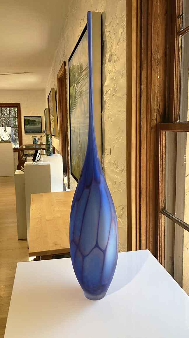 Blue Satin Murrine Bottle