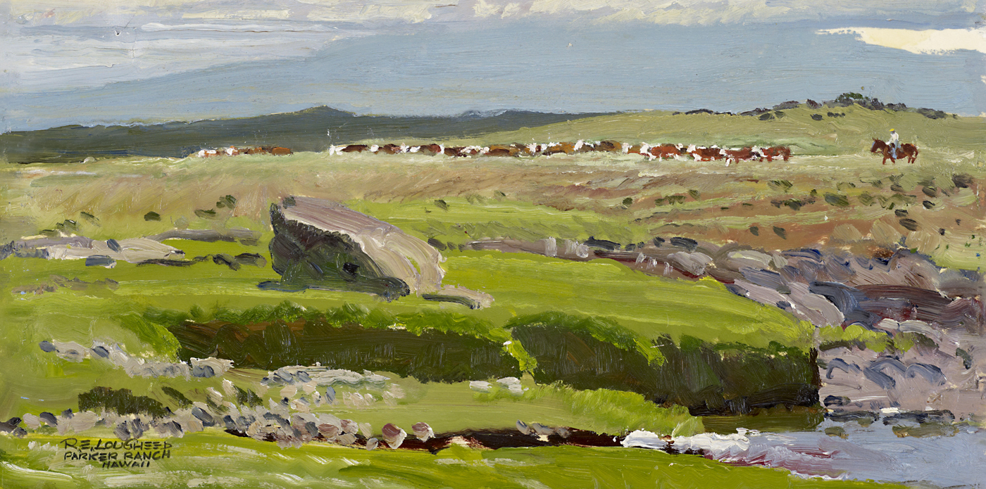 Herefords on the Park... by  Robert Lougheed - Masterpiece Online