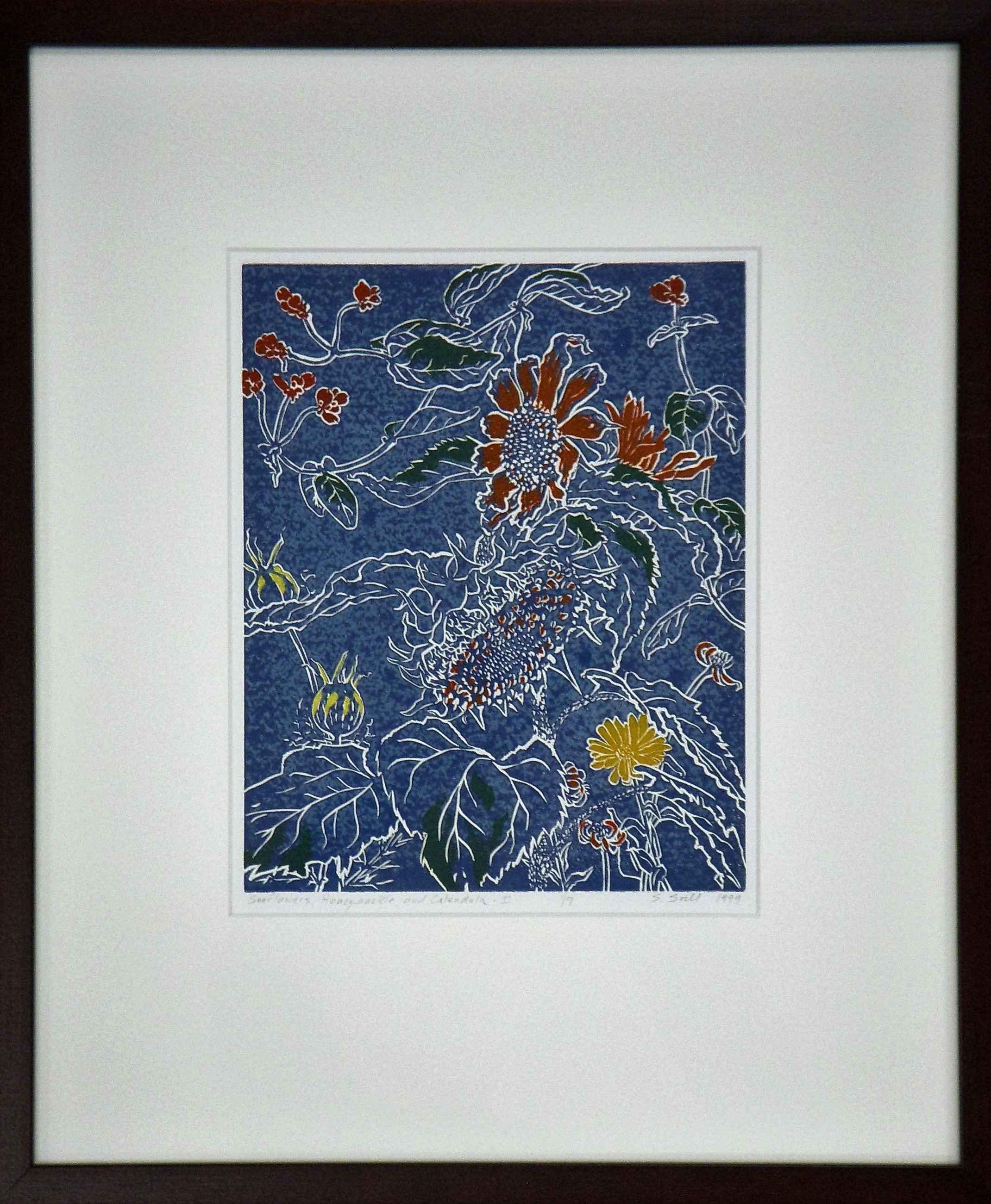Sunflowers, Honey Suc... by  Stephen Soihl - Masterpiece Online
