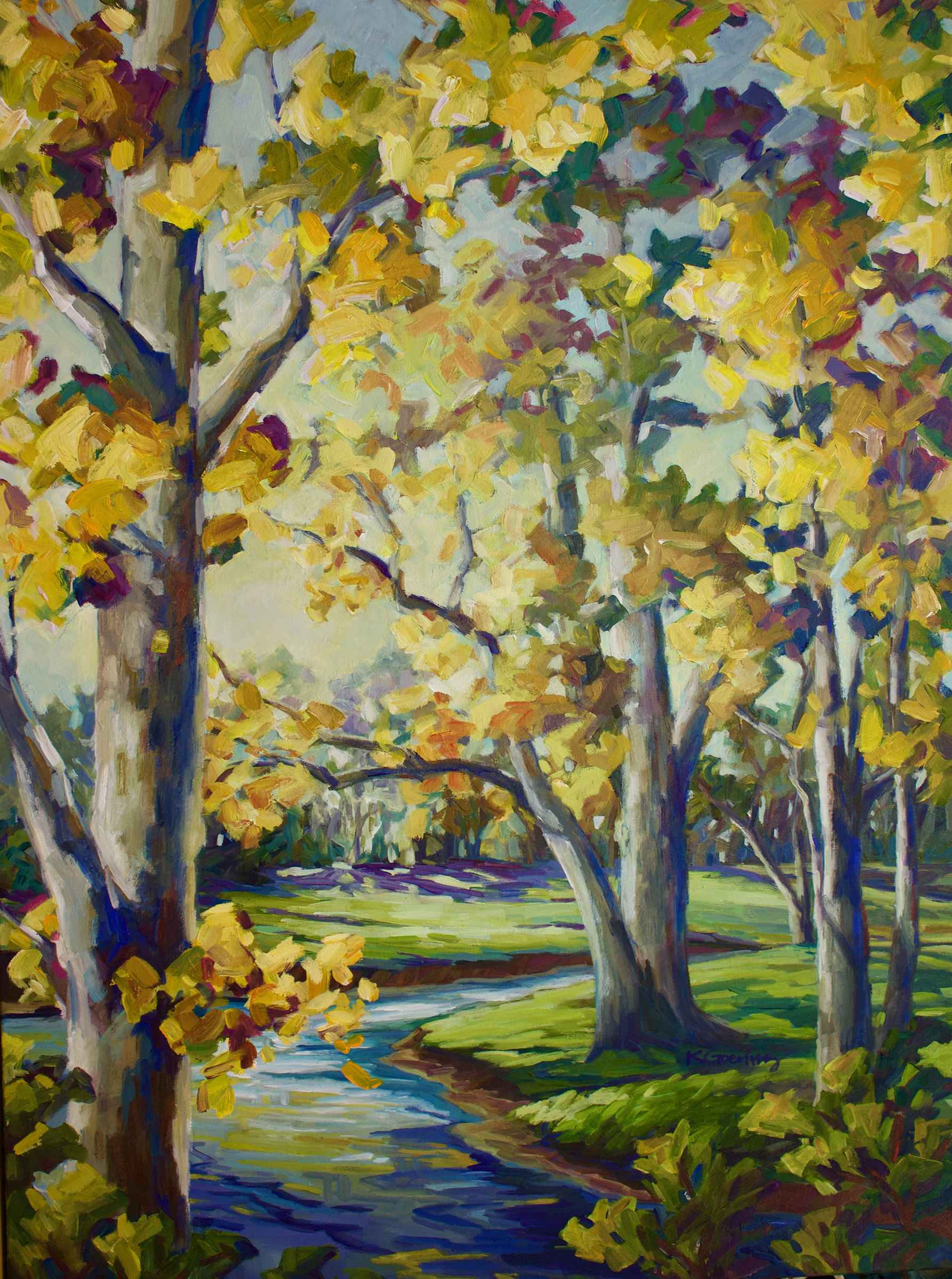 Brush Creek Sycamores  by  Kristin Goering