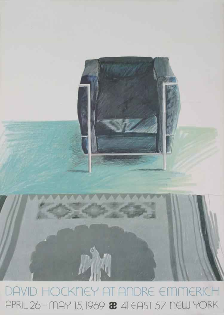 Corbusier Chair and R... by  David Hockney - Masterpiece Online