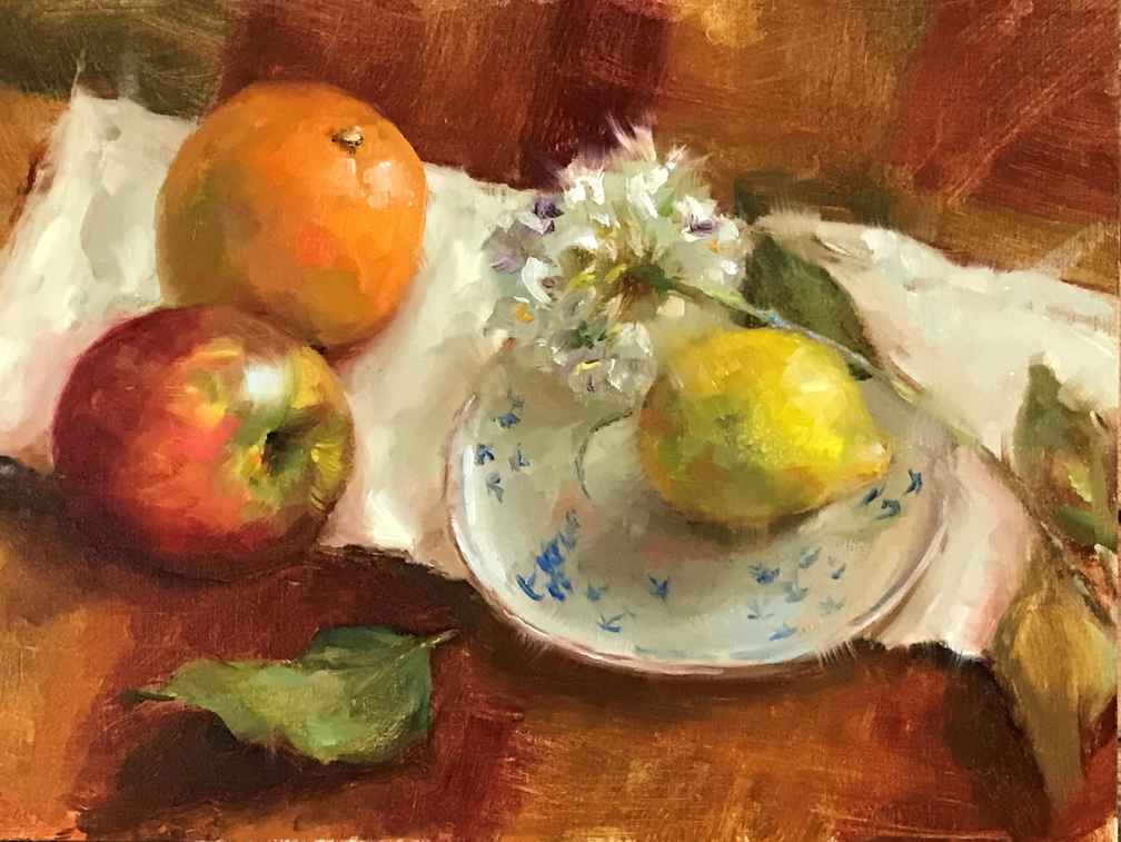 Apples Lemon and Oran... by  Aida Garrity - Masterpiece Online