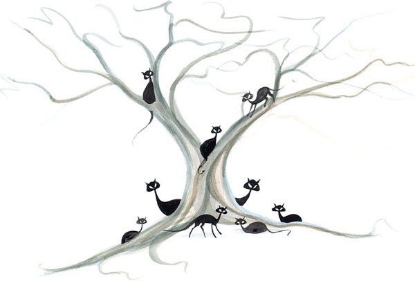 DP-TREE OF NINE LIVES by  P. Buckley Moss  - Masterpiece Online