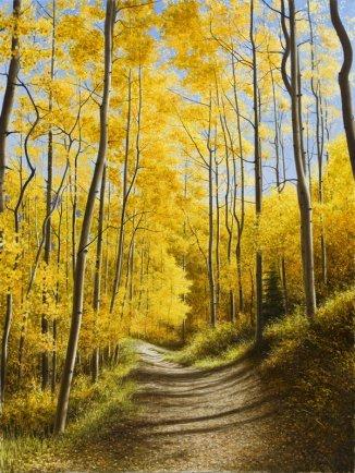 Aspen Path (Enhanced) by  Alexander Volkov - Masterpiece Online