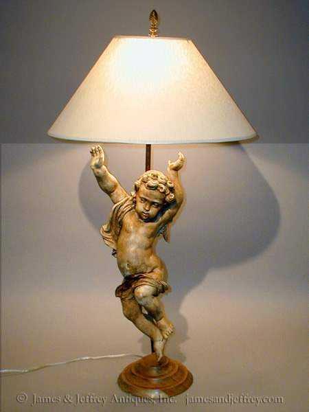 Cherub Lamp by  Italian  - Masterpiece Online
