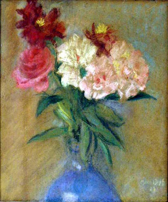Pastel Floral by  Marcel  Dyf  - Masterpiece Online