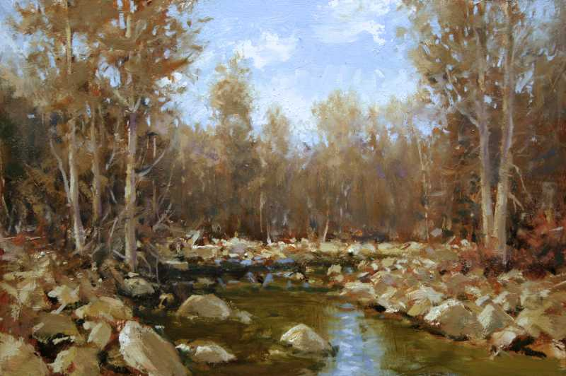 Above Fulton Crossing by  Dick Heichberger - Masterpiece Online