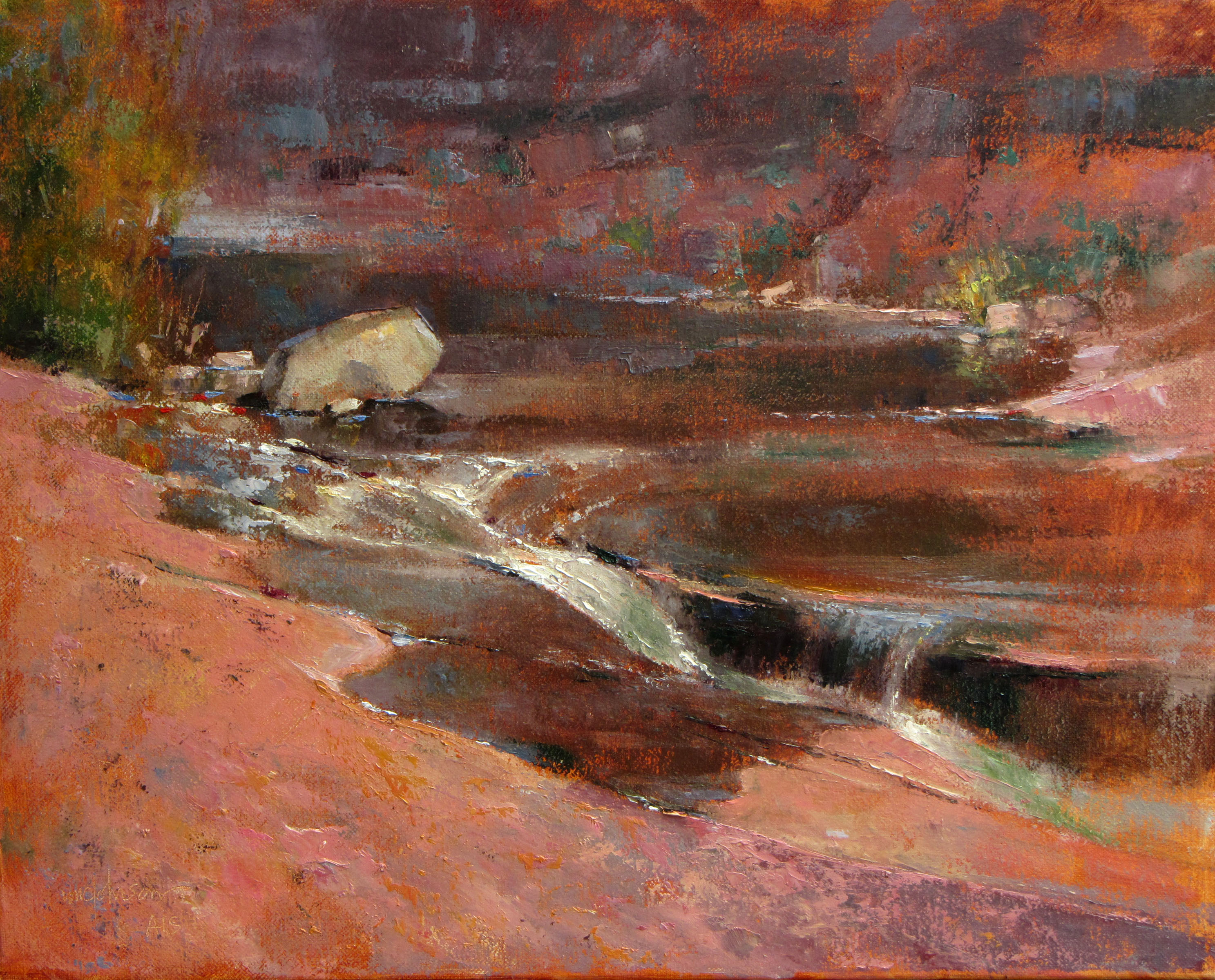 Slide Rock by  Michael Chesley Johnson - Masterpiece Online