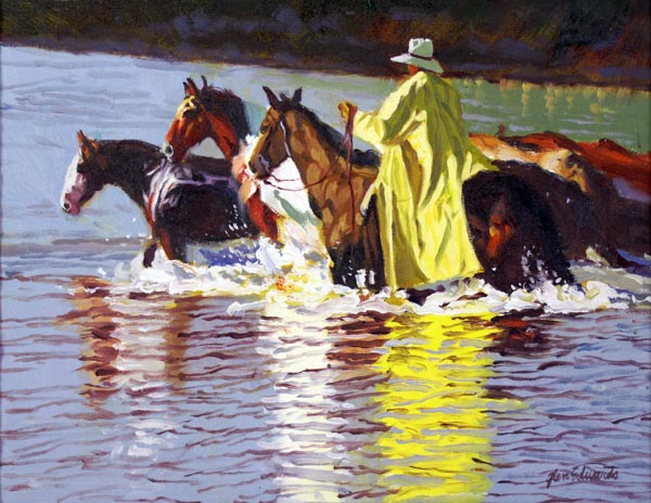SOLD- Fording the Ch... by  Glen Edwards - Masterpiece Online