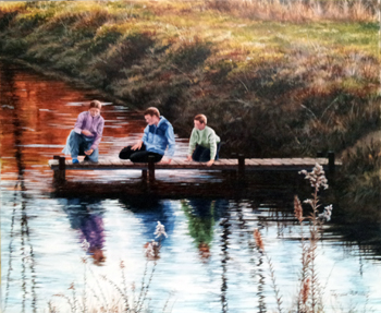 Midwinter Pond by   Teresa  Wheeler - Masterpiece Online